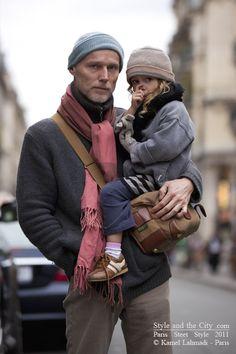 Claude Iverne et sa petite fille Camille, Paris Street Style