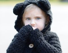 CROCHET PATTERN-The Becklyn Bear Sweater (2, 3/4, 5/6, 7/8, 9/10, 11/12, Small, Medium, Large sizes)