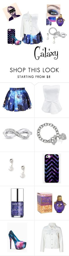 """Galaxy Outfit"" by abbybeaumont ❤ liked on Polyvore featuring Lipsy, Nails Inc., Liliana, Marc by Marc Jacobs and galaxyprint"