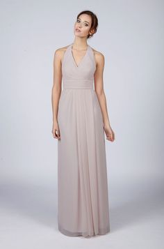 Super sophisticated silver/light grey prom dress. Just gorgeous. www.matchimony.co.uk