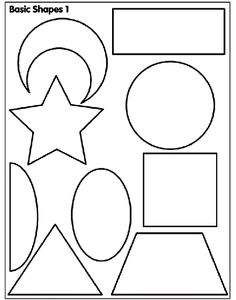 Basic Shapes 1 coloring page