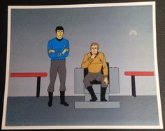 Star Trek: The Animated Series (1973) Animation Ltd Ed SPOCK & CPT KIRK Sericel