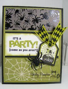Stampin Up Halloween Card, By Shirley Pumpkin