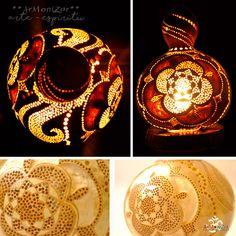 Gourd Lamps - Lamparas de Calabaza y Madera de ArMoniZar en Etsy
