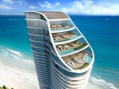 A rendering of the oceanfront penthouse near Miami that just sold for $21 million.