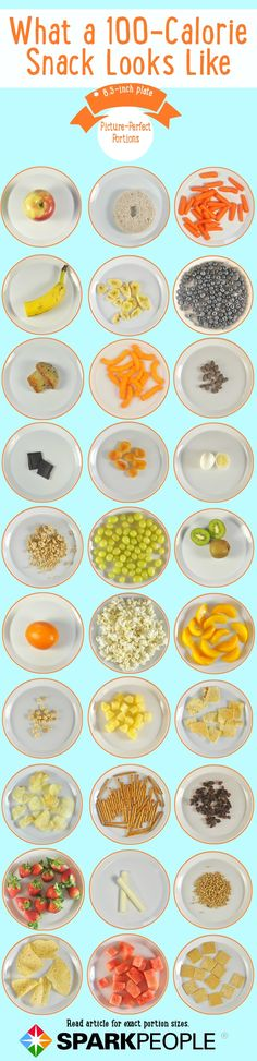 100-calorie portion pics of tons of different #snacks!