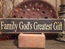 Country Primitive Handmade Wooden God's Greatest Gift Sign Farmhouse  Decor