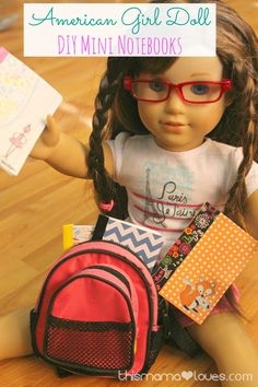 Do you love DIY American Girl Accessories? These little notebooks will be lots of fun for her doll play and won't take long to make!