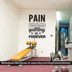 Crossfit Decal Gym Wall Fitness Stickers Motivational Quote Workout