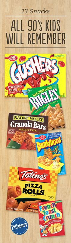 13 Snacks Every '90s Kid Wanted: Blast from the past! One bite and you'll feel like you're right back in your parents' station wagon on the way home from T-Ball. Because nostalgia is the best flavor.