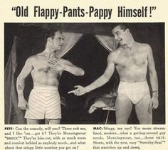 "Another for my wife.  ""Old Flappy-Pants-Pappy"" 1940s"