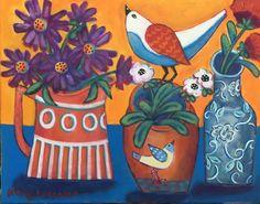 Les Autres Vases, en Bleu et Orange