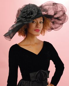 958097OFSP Off Face Floppy, black – Louise Green Millinery