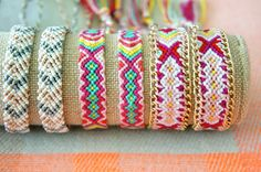 - Woven Friendship Bracelet - Romantic tones