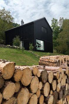 Impactante casa de madera
