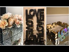 Popular 33 Dollar Tree Diy Home Decor 2019 Recently, I have been wandering around the internet and I found awesome DIY projects that are perfect for h… Diy Kitchen Decor, Diy Bathroom Decor, Farmhouse Wall Decor, Diy Room Decor, Art Decor, Glitter Wall Art, Dollar Tree Decor, Inexpensive Home Decor, Spring Home Decor