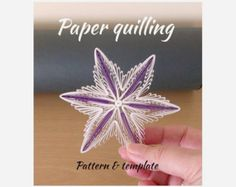 Quilling Tutorial  / pattern (QD11) - DIY, PDF, Instant download