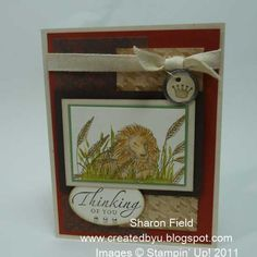 Zoo Review Lion in Waiting by sharonstamps - Cards and Paper Crafts at Splitcoaststampers