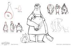 ArtStation - The Butcher Biff, Andy Ivanov Man Illustration, Character Illustration, Illustrations, Comic Character, Character Design, Design Comics, Visual Development, Cartoon Drawings, Canvas