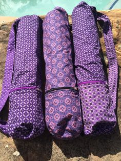Purple perfection Shweshwe yoga mat bag Yoga Mat Bag, Unique Gifts, Handmade Gifts, Etsy Shop, Trending Outfits, Unique Jewelry, Purple, Bags, Shopping