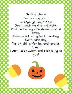 The Candy Corn Gospel! Share this with your friends and family today! #LetYourLightShine