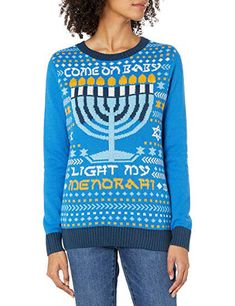 Womens Come On Baby Light My Menorah Sweater With Flashing Led Led Lights Ugly Hanukkah Sweater, Ugly Christmas Sweater, Cute Sweaters, Sweaters For Women, Bear Rug, Hanukkah Gifts, Baby Coming, Being Ugly, Light Up