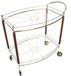 Teak Leg Bar Cart on Chairish.com