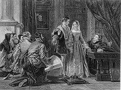 The Crown Offered to Lady Jane Grey, as imagined in the 1820s: Guildford and Jane are in the centre.