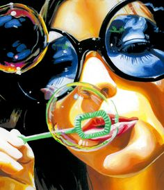 "Saatchi Online Artist steve smith; Painting, ""bubble"" #art"