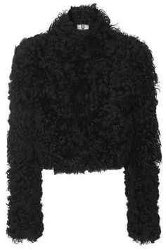 Discover Mode: Maida Chubby Shearling Jacket by Unique - Black