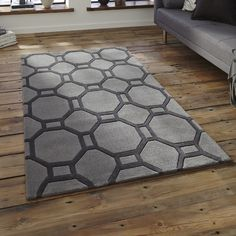 Modern Rugs in Soft Acrylic. Modern rugs UK, Beautiful Modern Rugs in the lastest designs and colours at Discount Prices. Guaranteed lowest prices with Free UK Delivery on all our Modern Acrylic Rugs Machine Made Rugs, Home Additions, Urban, Geometric Rug, White Rug, Grey Rugs, Modern Rugs, Modern Living, Traditional Design