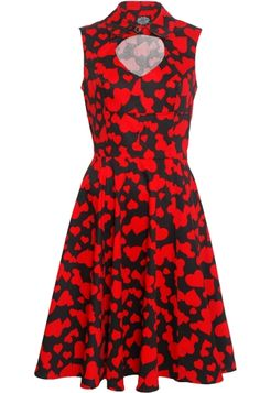 Hearts  Roses Heart Cut Out Dress