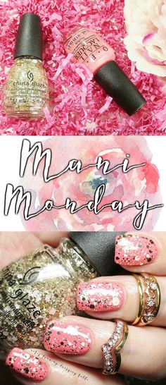 Just Another Mani Monday Featuring OPI Sorry I'm Fizzy Today and China Glaze Glitter Me This...