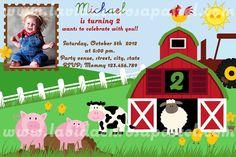 the farm invitation, invitacion de la granja
