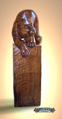 larger than life cougar sculpture