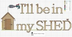 Working in the Shed · Cross-Stitch | CraftGossip.com