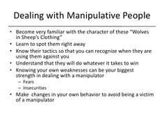 Tips On Dealing With Manipulative People