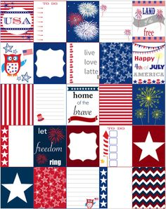 4th of JULY INDEPENDENCE DAY Erin Condren by LiveLoveLatte on Etsy