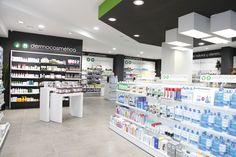 www.concep.es Diseño de Farmacias. Pharmacy design . Drug store design. Store Fronts, Pharmacy, Counter, Architecture Design, Presentation, Photo Wall, Retail, Layout, Shelves