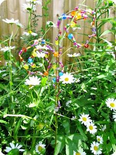 How to make a beaded garden stake