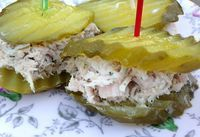 """Pickles for the win! These ULTIMATE dill tuna """"sandwiches"""" were the besssst! Keto and low carb!"""