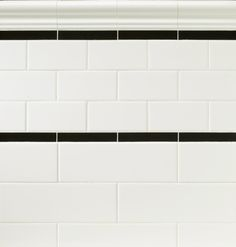 The black accent tile with this Subway White from Arizonatile.com gives an added visual interest to an otherwise basic design.
