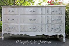 HOME DZINE Craft Ideas | Transform furniture with lace and spray paint