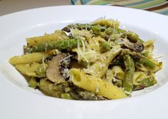 Penne Pasta with Pesto and Veggies....Gluten Free.  By:  Southern Girl Eats Clean