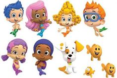 12 Bubble Guppies Edible Stand Up Cake Decoration Toppers | eBay