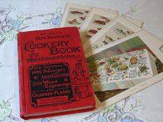 c1900 Mrs Beeton's Cookery Book and Household Guide + Genuine Colour Plates - Ward Lock & Co. - New and Enlarged - Antique Cookery Book by Butterbeas on Etsy