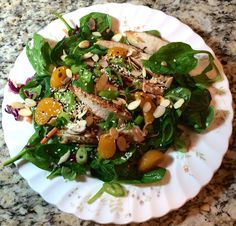 Asian Sesame Chicken Salad with Mandarin Oranges & Almonds