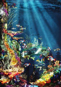 """Menjangan Underwater Palace."" An illustration by Bayu Sadewo"
