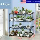 4 Layer Flower Pots Plant Stand Display Shelves Shelf Garden Planter Holder flower pot hanging Metal Outdoor Indoor Pot Plant Stand Garden Decor Flower Rack Wrought Iron US Hanging Plants, Potted Plants, Plant Pots, Potted Flowers, Outdoor Shelves, Pot Storage, Storage Rack, Metal Plant Stand, Plant Stands