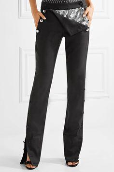 Monse   Embellished stretch wool-blend twill flared pants   NET-A-PORTER.COM